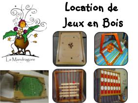 Location de grands JEUX en BOIS pour vos événements !