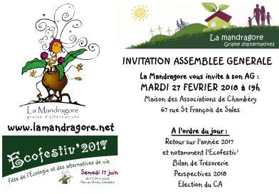 Invitation à l'Assemblée Générale de la Mandragore