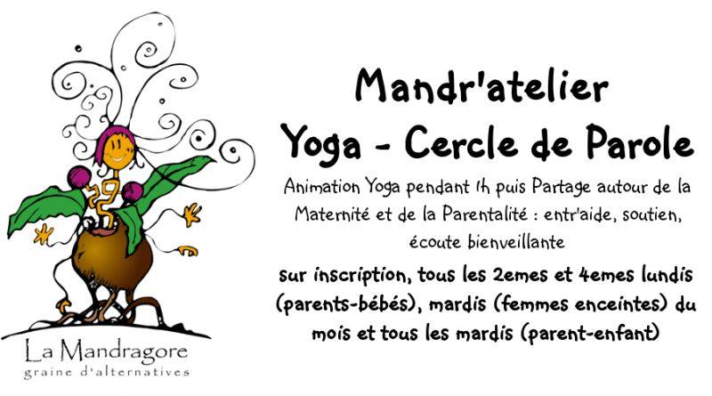 Mandr'atelier YOGA – Femme enceinte/Parents Bébé et Parents enfants