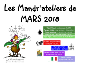 Mandr'ateliers de MARS 2018