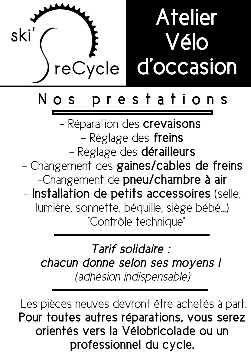 Prestation vélo ski's reCycle
